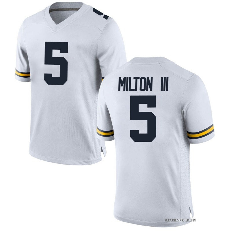 Game Men's Joe MIlton Michigan Wolverines White Brand Jordan Joe Milton Football College Jersey