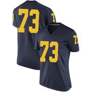 Game Women's Willie Allen Michigan Wolverines Navy Brand Jordan Football College Jersey