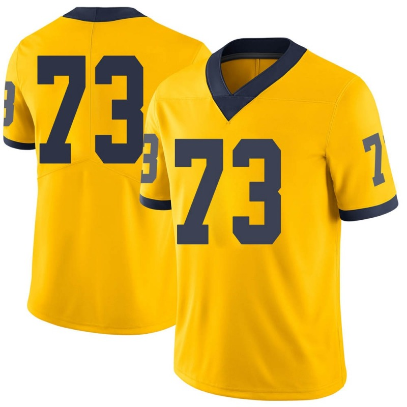 Limited Men's Willie Allen Michigan Wolverines Brand Jordan Maize Football College Jersey