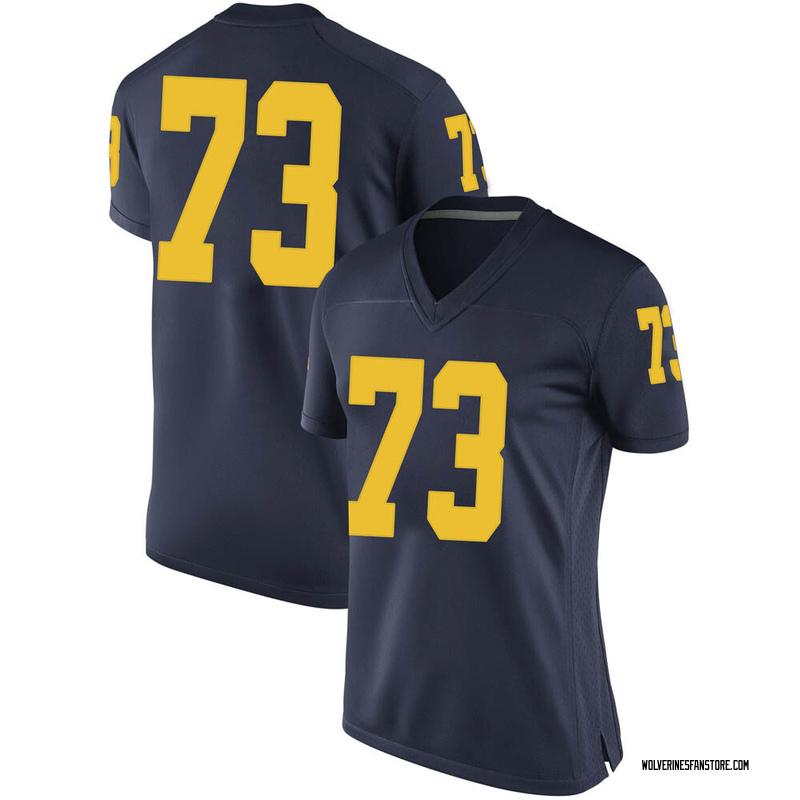Replica Women's Willie Allen Michigan Wolverines Navy Brand Jordan Football College Jersey