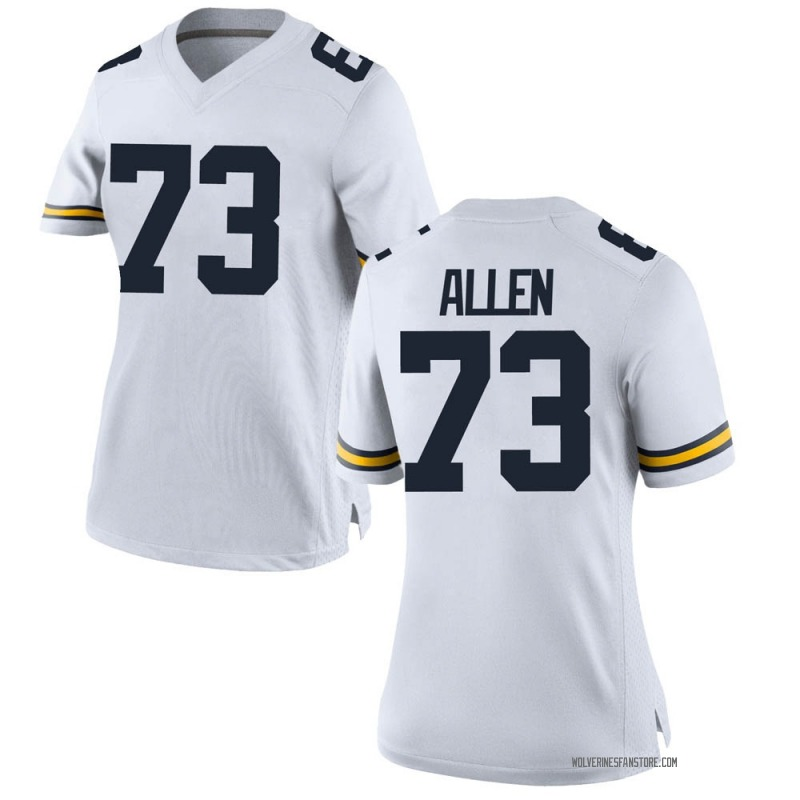 Replica Women's Willie Allen Michigan Wolverines White Brand Jordan Football College Jersey